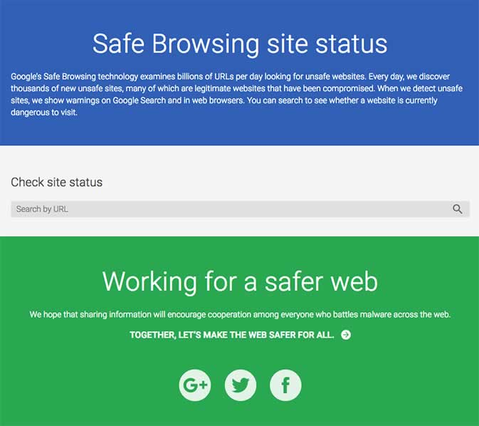 Safe Browsing Site Statis
